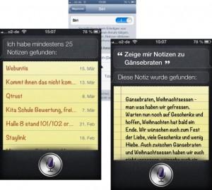 Siri-Notizen-Sprachbefehl