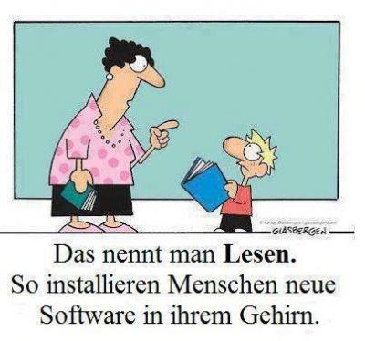 Lesen ist Installation neuer Software